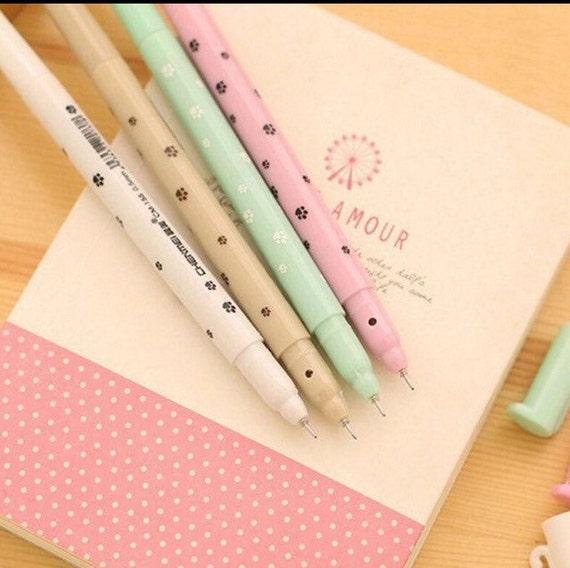 cat pen kitten pen kawaii pen ballpoint pen school supply stationary cute pen fine point. Black Bedroom Furniture Sets. Home Design Ideas