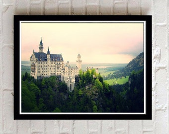 neuschwanstein castle, Fussen Germany, European photography, Romantic Road, Digital print Download, German castle, travel photography