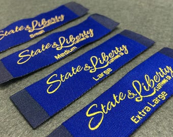 1000 woven labels, clothing labels sew on, custom woven labels, garment labels sew on, woven labels clothes
