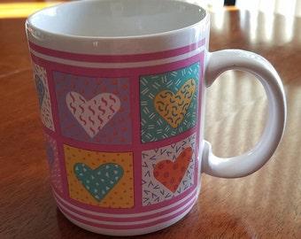 Quilted Heart Design Mug