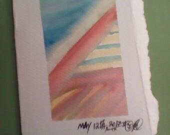 Watercolor note card + envelope