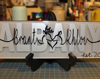 Wedding gifts for couple; Custom Last Name Sign; Unique Personalized Name Sign; Wedding Gift; Hunting Decor; Personalized Wedding Gift