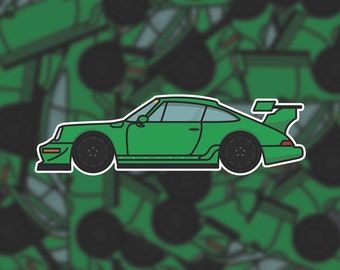 Die-cut Porsche Sticker