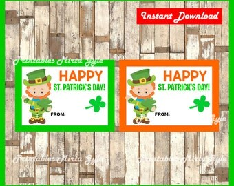 St Patrick's Day gift tags instant download , Printable Happy St Patrick's Day tags, Happy St Patrick's Day cards