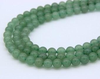 Natrual Green Aventurine Beads 6mm 8mm 10mm 12mm Light Green Gemstones Green Mala Beads Chakra Beads Chakra Jewelry Supplies Reiki Beads
