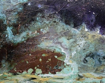 Stormy Waters Original Copper Painting