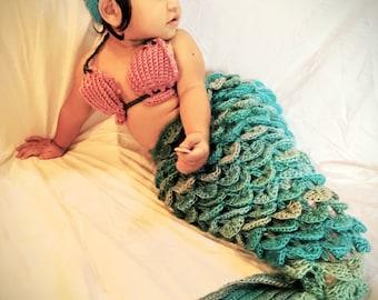 Mermaid Tail Blanket / photo prop/ baby blanket/ mermaid tail