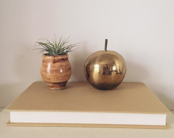 Brass apple, vintage brass apple