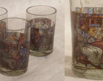 Shot glasses, set of 3, very decorative