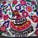Big Sale!!! Vintage UZBEK SUZANI Handmade silk Embroidery on cotton fabric (82 x 80 cm 32 х 31 inch)