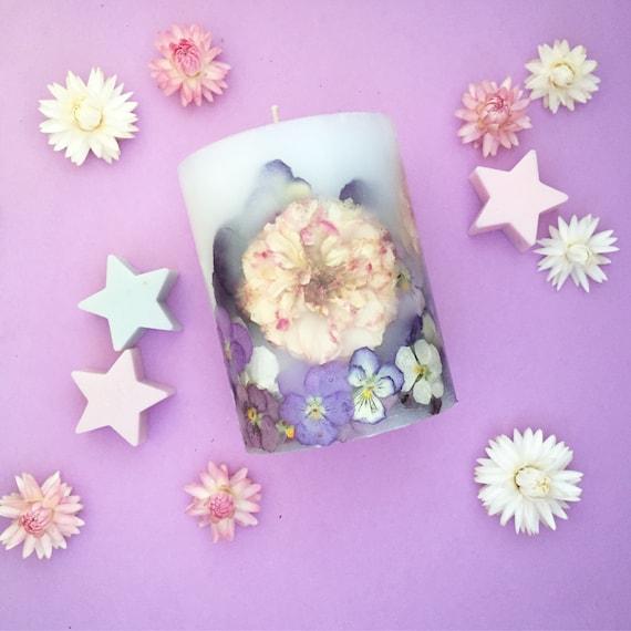 Botanical Candle (L) - Roses/ Violas