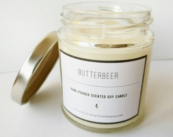 Butterbeer - Harry Potter inspired handmade soy wax candle