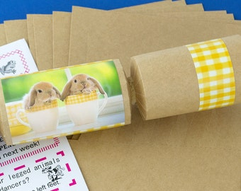 Easter crackers etsy 8 kraft cute bunnies make fill your own easter party crackers kit solutioingenieria Images