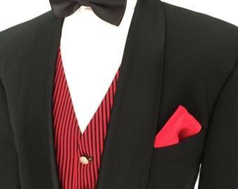 David Moss 42 Regular Vintage Shawl Collar Wool Blend Tuxedo Dinner Suit Waist 34 Leg 30.5