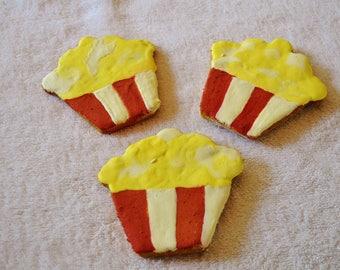 Dante's Popcorn Cookies /Healthy Dog Treats /Organic Dog Treats /Movie Night Treats /Dog Birthday /Dog Owner Gift /Organic Dog Bakery