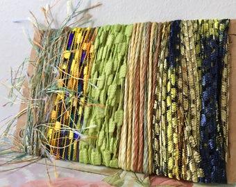 Creative Art Yarn Bundle Art Fiber Bundle Yarn Scraps Art Yarn Green Yarn Bundle Lime Yarn Bundle Fiber Yarn Bundle Textile Fiber Art Bundle