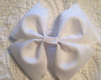 Classic Large White Bow