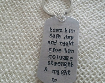 Hand Stamped Key Chain for Law Enforcement/Military