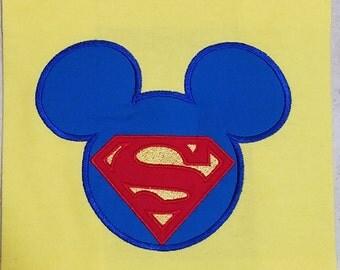Super mouse shirt/superman birthday shirt/ avengers birthday shirt, mickey head character shirt/disney fun shirt/disney super hero shirt