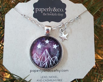 Night Court Galaxy Pendant with Star Charm