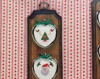 Vintage Christmas Mini-Hearts by Kathy Stopczynski for counted cross stitch , hard to find