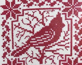 Bucilla counted cross stitch Cardinal kit