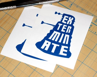 Dr. Who Sticker | Dalek Sticker | Doctor Who Dalek Decal