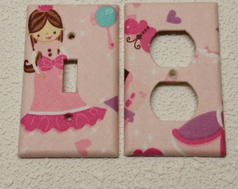 Light switch cover plate princess
