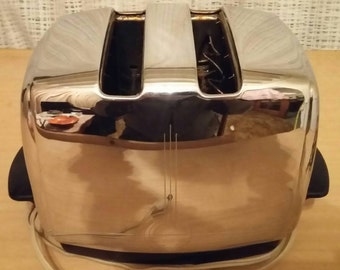 Vintage Sunbeam Toaster. Rare 1951 Sunbeam T20A Automatic Toaster. Chrome Toaster. Art Deco Toaster.
