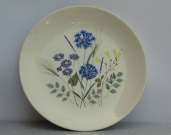 Country Garden plate by Ridgway 1970s