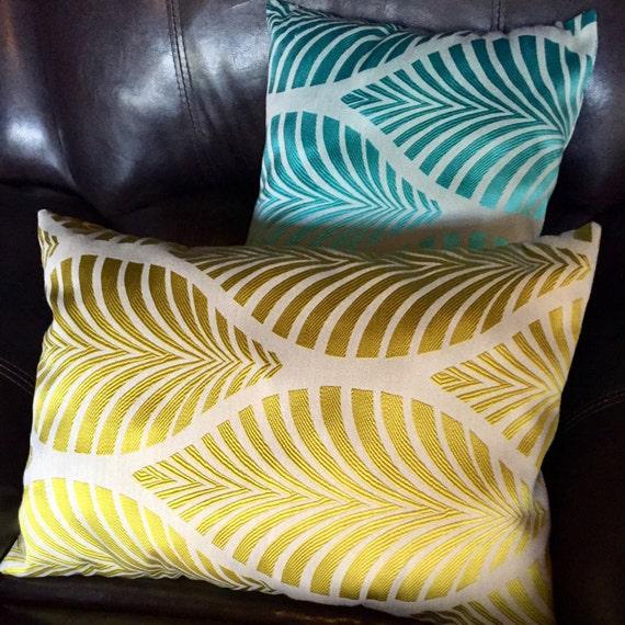 Leaf Design Bolster Pillows- Filled