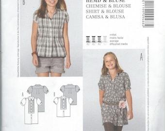 Burda 9488, Girls, Juniors, Girls Blouse, Girls Shirt, Girls Juniors, Sewing Pattern, Size 7-8-9-10-11-12-13-14 Junior, New Pattern