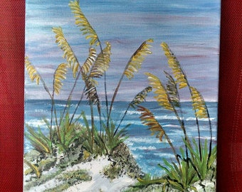Sea Oats Painting, Beach Painting, Gulf Coast Painting