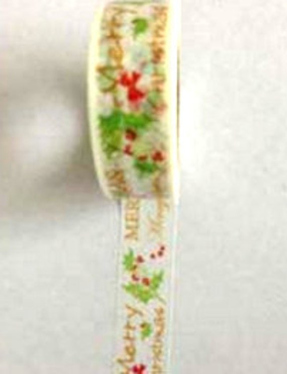Merry Christmas Themed Washi Tape (Japanese Tape, Decorative Adhesive, Decorative Tape)