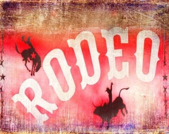 Texas Rodeo Sign-(image is horizontal)