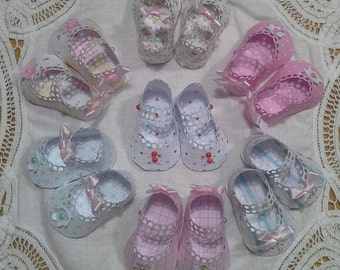 Baby girls paper shoes