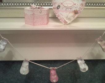 Baby Girls paper shoe bunting/garland