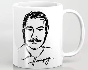 Hemingway Ceramic Mug Original Art