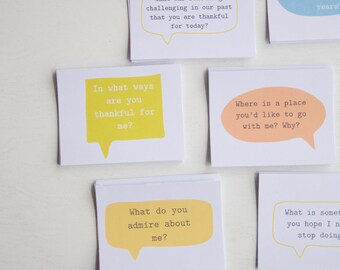 Conversation Starters for Married Couples, Date Night cards, Conversation Cards