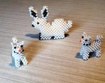 Vintage Beaded Handmade Animals Dog Rabbit