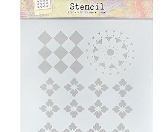 Fabric Elements Stencil | Rebekah Meier Designs