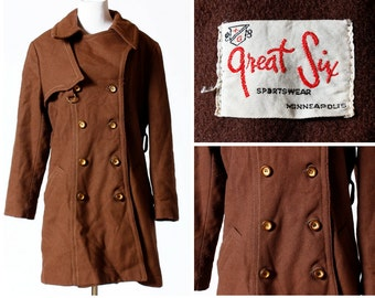 Vintage Women's Coat - 60's Great Six Sportswear