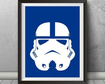 Stormtrooper Indianapolis Colts Inspired Minimalist Poster, Indianapolis Art, Colts Print, Indianapolis, Colts, Indiana, Poster, Gift, Decor
