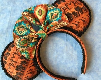 Handcrafted Mouse Ears - Animal Kingdom Inspired