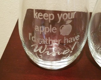 Teacher Wine Glass Design #1