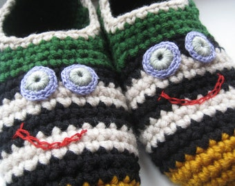 MEN SLIPPER SOCKS. Knitted slippers. Wool slippers. House slippers. Birthday present. Men socks