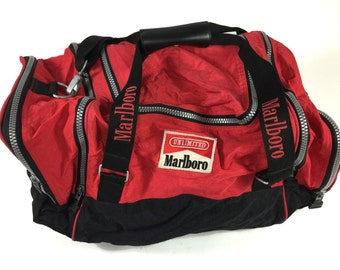 Marlboro Man Smoking Duffle Bag