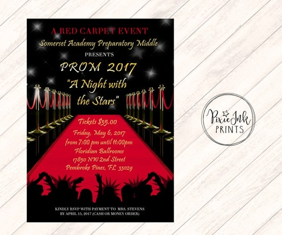 Red Carpet Invitation Red Carpet Affair Invitation Hollywood