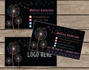 Printable Business Punch Card, Business Card Cards Buy 10 Get 1 Free, Free Leggings Style Marketing Card Digital File LLR021