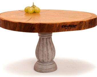 Reclaimed oak wood cake stand